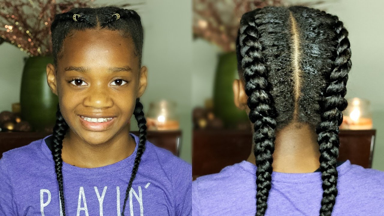 twin french braids clip