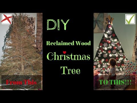 DIY Reclaimed Wood Christmas Tree - Semi-Country DIYs