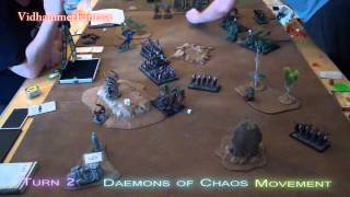 2500 Dark Elves Vs Daemons Of Chaos - Crucible 3 Final Table - Fantasy Battle Report