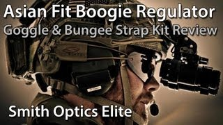 """Asian Fit"" Boogie Regulator Review + Bungee Accessory Strap - Smith Optics Elite"