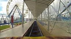 POV - Sand Blaster roller coaster at the Daytona Beach Boardwalk