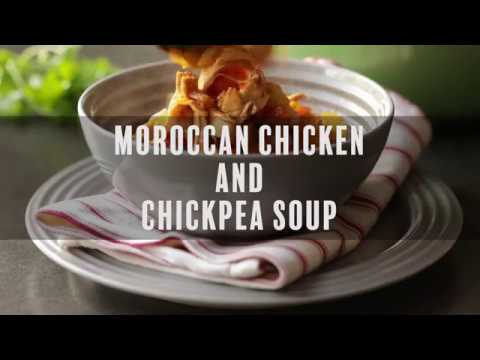 Moroccan Chicken and Chickpea Soup