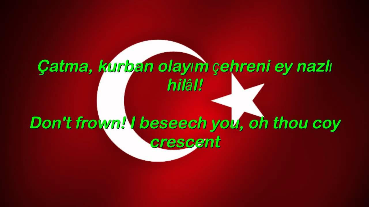 Istiklal Marsi - Turkey National Anthem English lyrics - YouTube