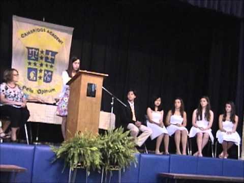 Narae Middle Graduation 2012 - part 1: Cambridge Academy, Greenwood SC 5/18/2012