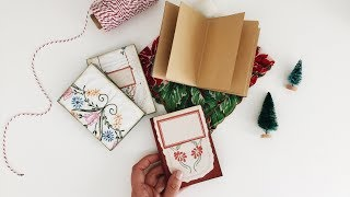Last Minute DIY Christmas Gifts | DAY 5/12 | No Sew Notebook