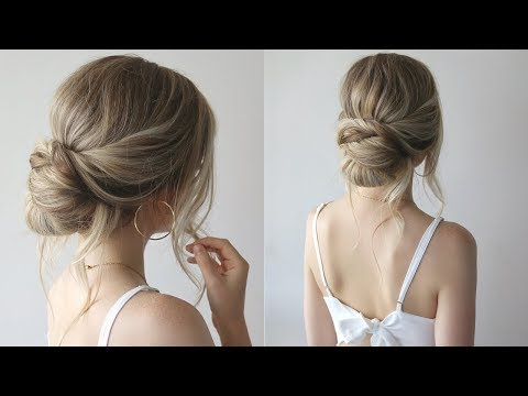 HOW TO: SIMPLE UPDO | Bridesmaid Hairstyles 2019 - YouTube