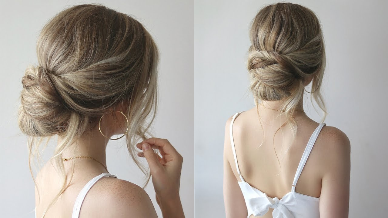 simple updo bridesmaid