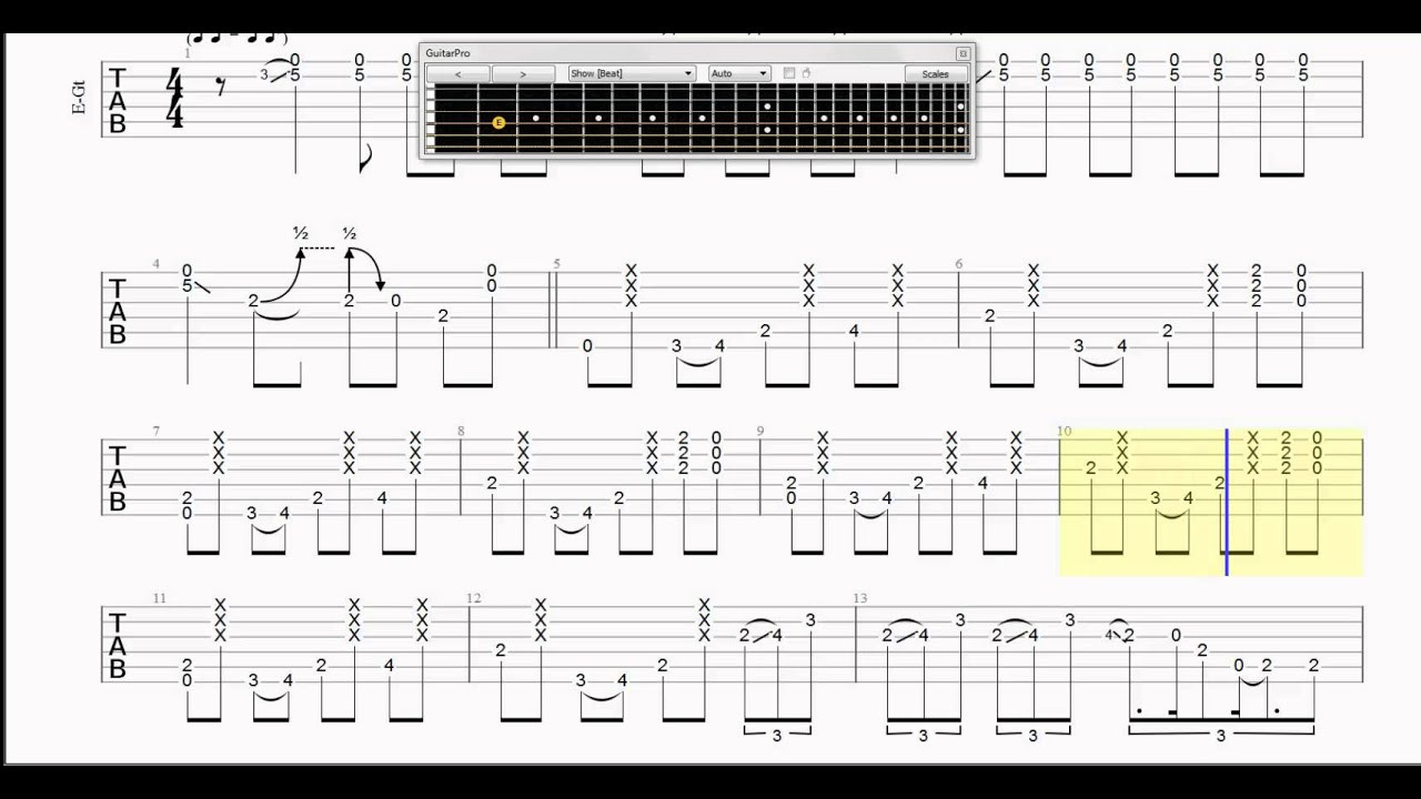 Guitar Tab   Pride and Joy   Slow   Intro Only