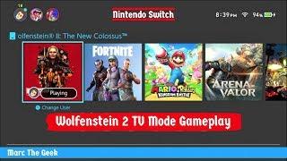 Wolfenstein 2, Switch TV Mode Gameplay