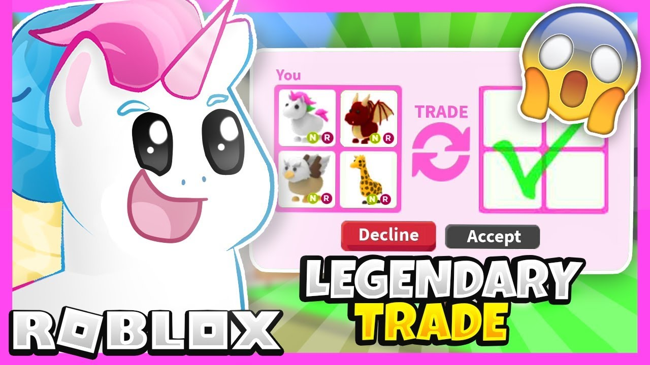 I Traded Only Legendary Pets In Adopt Me For 24 Hours Adopt Me Roblox Trading Challenge - watch trying to get a legendary unicorn pet roblox