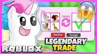 I Traded ONLY LEGENDARY Pets in Adopt Me for 24 Hours! Adopt Me Roblox Trading Challenge