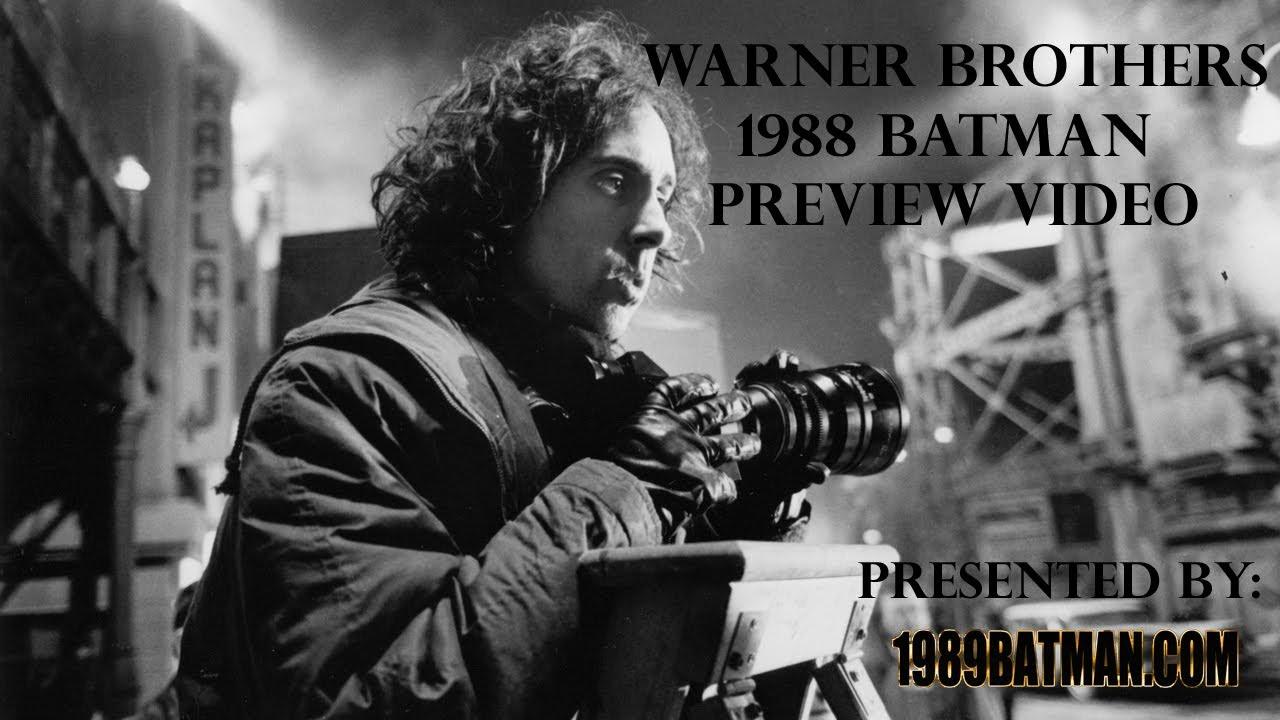1989batmancom Warner Brothers 1988 Batman Preview Video