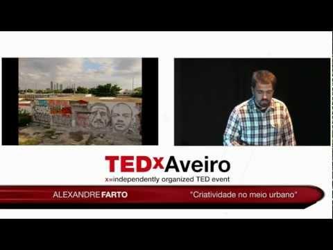 Criatividade no meio urbano:  Alexandre Farto AKA Vhils at TEDxAveiro