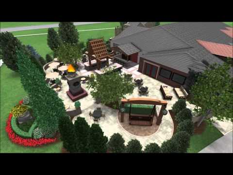 Outdoor Dining Area - Restaurant Patio - Fire Table - Outdoor Bar - Firepit - 3D Digital Walkthrough