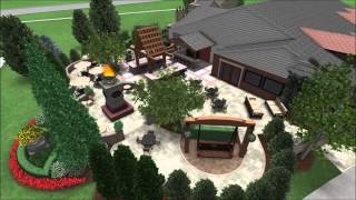 Outdoor Dining Area - Restaurant Patio - Fire Table - Outdoor Bar - Firepit - 3D Digital Walkthrough