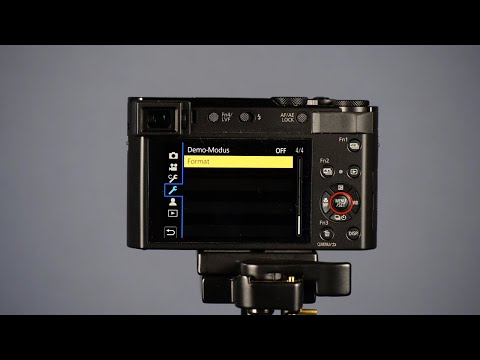 SD-Karte Mit Lumix Kompaktkamera Formatieren
