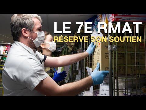 Soutien logistique du 7e RMAT à lhôpital de la Croix-rousse de Lyon.