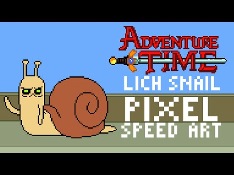 Adventure Time Lich Snail Pixel Speed Art by PXLFLX