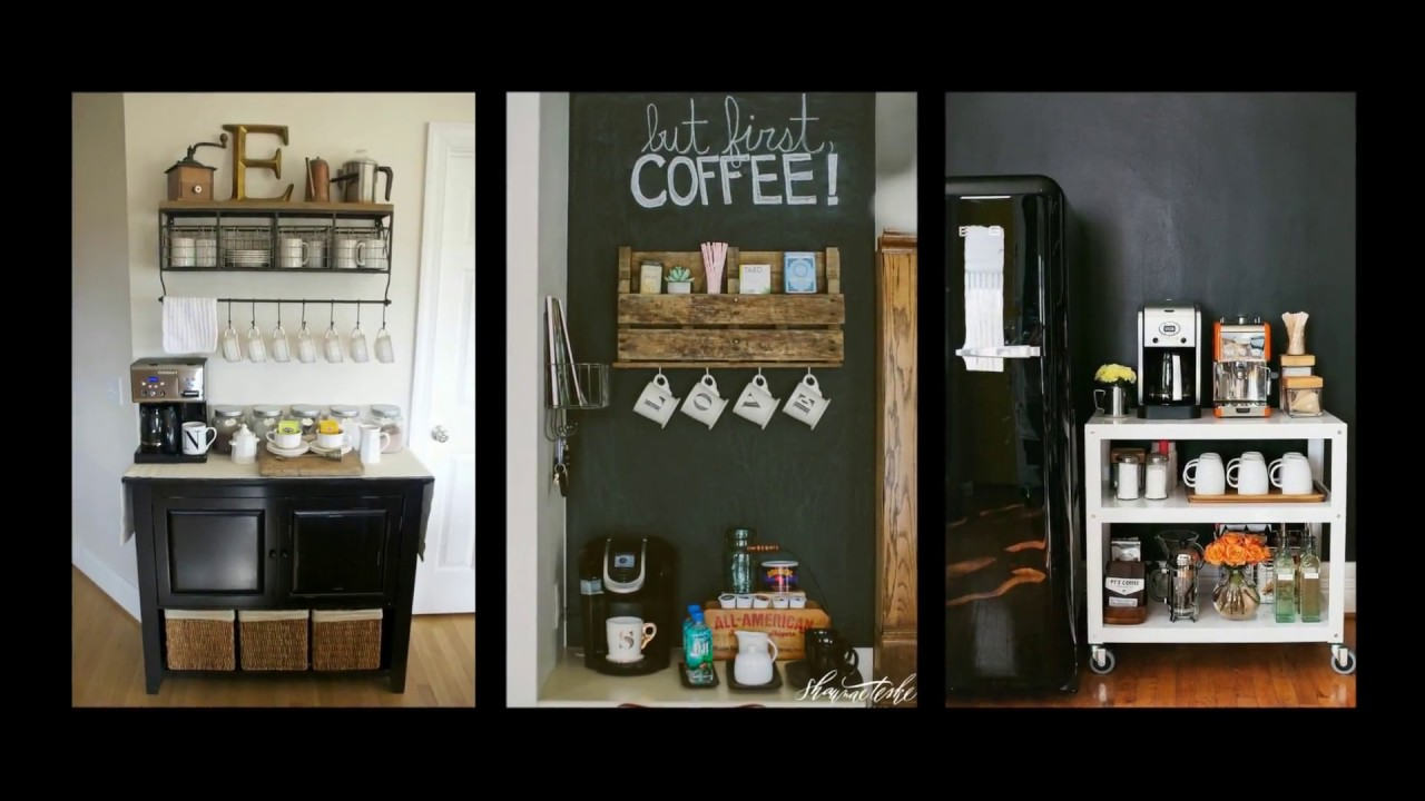 Relatively 50+ Home Coffee Bar Ideas - DIY Home Decor Inspiration - YouTube DQ14