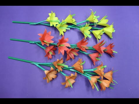 how-to-make-paper-flowers-|-stick-flower-making-at-home-|-popsicle-stick-crafts-for-adults-|-diyc