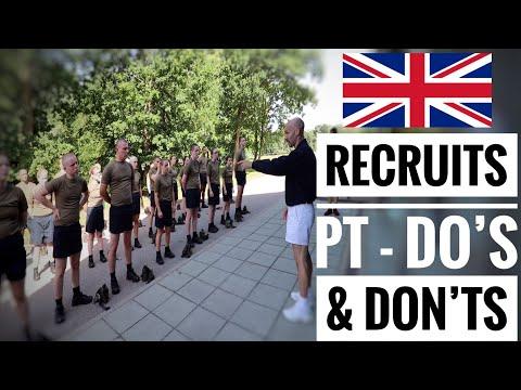 British Army Recruits New Intake   Do's & Don'ts Basic Training