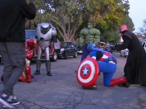 Captain America Iron Man Amp Hulk Vs Red Skull Amp Iron