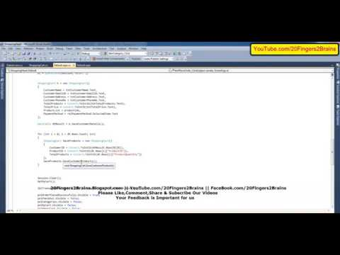 Part 15 C Asp Net Shopping Cart With Database Ecommerce Project