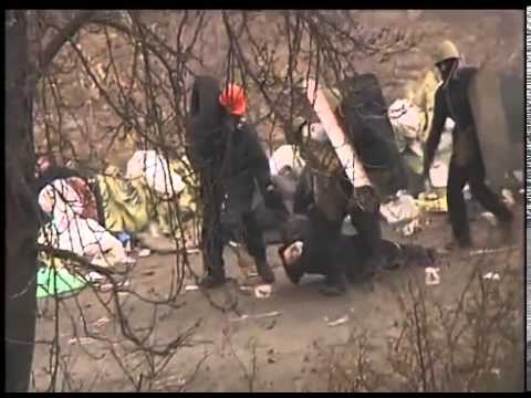 Watch as Protesters Take Sniper Fire from Ukrainian Police and Military