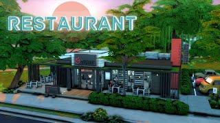 Ресторан 🍴🍝│Строительство│Restaurant│SpeedBuild│NO CC [The Sims 4]