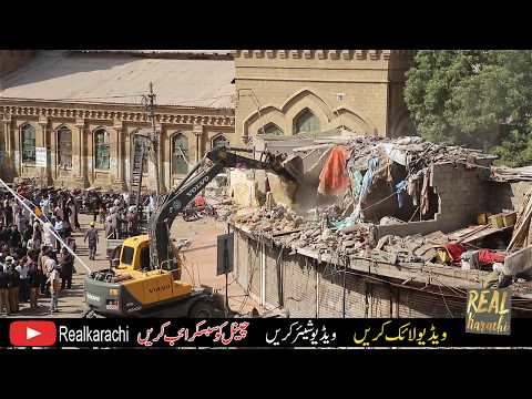 Grand anti-encroachment operation begins in Karachi's Saddar| karachi  anti-encroachment operation