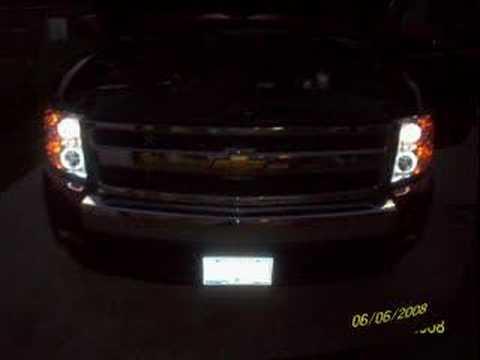 2008 SILVERADO WITH LED HEADLIGHTS - YouTube