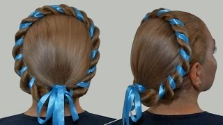 Halo or Milkmaid Braid for Long Hair |Hairstyles by Yourself| Tutorial