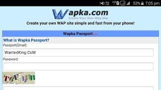 Gambar cover How To Create  A Account At Wapka.Mobi or Wapka.CoM IN Hindi