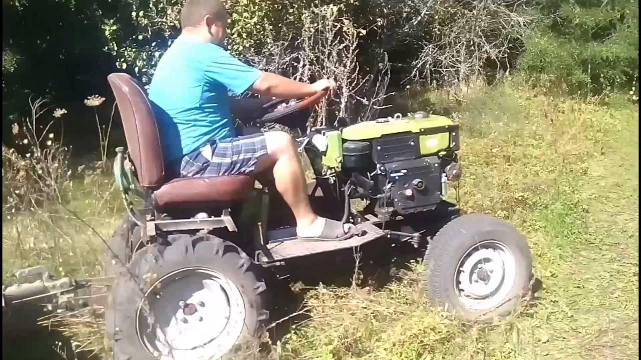 Мини трактор с мотоблока КЕНТАВР своими руками