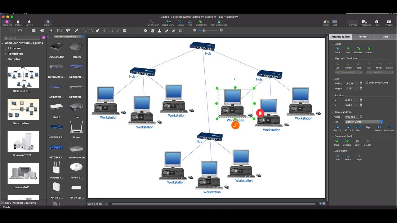 Visio Logical Network Diagram Truck To Trailer Wiring How Create Topology - Youtube