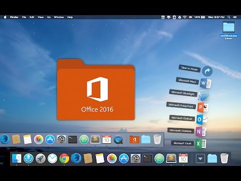 office mac 2011 dock icons