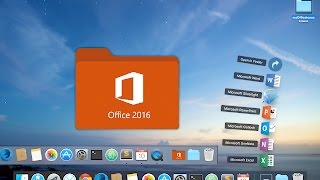 How to change folders icon in Mac OS X Dock - As you saw it in Apple Store (MS Office Folder exampl)