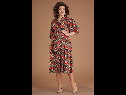 2551 платье из легкого штапеля