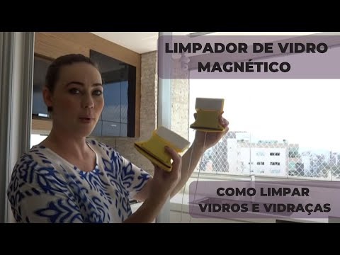 LIMPADOR DE VIDRO MAGNÉTICO - TESTE - COMO LIMPAR VIDROS E VIDRAÇAS