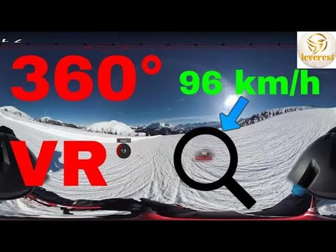 360° grad video at ski - atemberaubende Aufnahme-VR