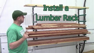 how to install a lumber rack youtube