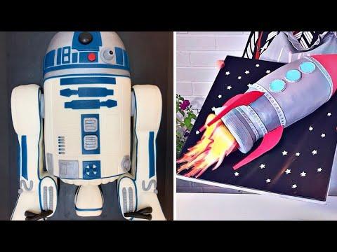 gâteau-de-voyage-spatial-🚀✨10-idées-de-décoration-de-gâteau-délicieux-(mai)-#-06