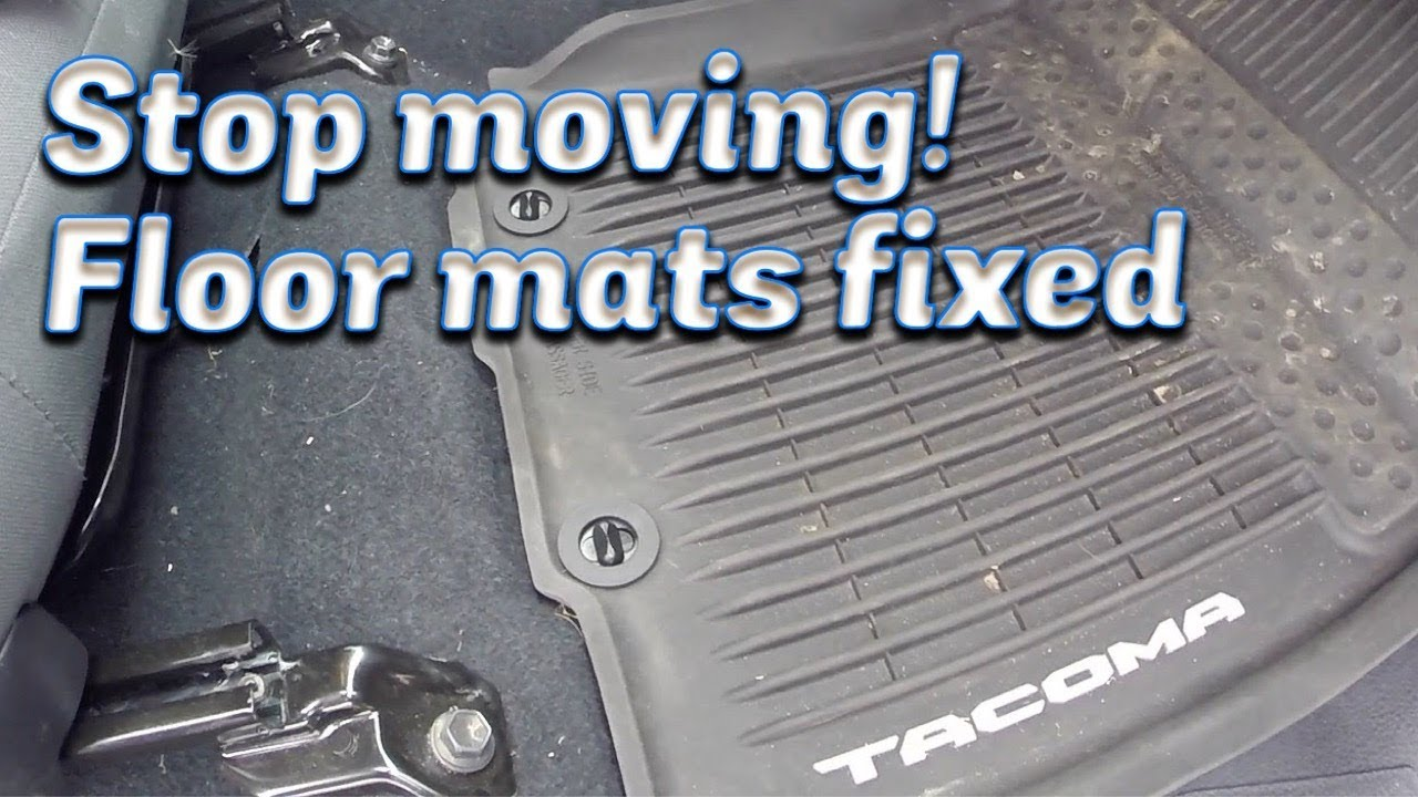 Stop The Passenger Floor Mat From Moving Youtube