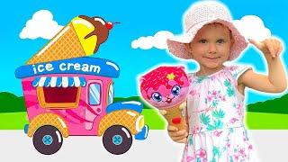 Песенка про мороженое. Волшебный вагончик везёт мороженое для детей