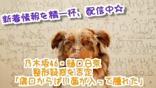 乃木坂46の樋口日奈が8月26日にブログで、自身にかけられた整形疑惑を否...
