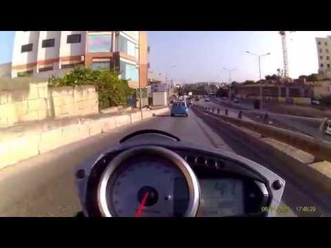Kawasaki Z750 on Maltese roads