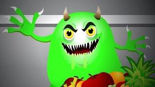 Slimy Green Monster | Spooky Halloween Songs + More Kids Rhymes