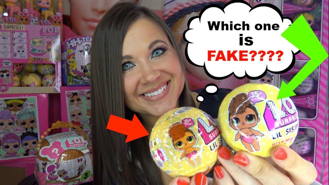 Fake Lol Surprise Dolls Series 3 Wave 2 Opening Confetti Pop Lil