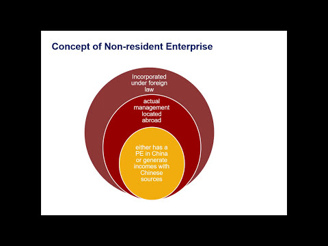 China's Taxation on Non resident Enterprises