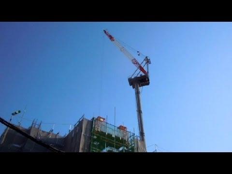 Huge Remote Control Crane in Japan!